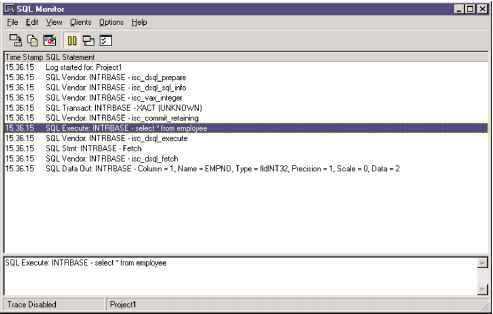 Using SQL Monitor - Mastering Delphi - Advanced Delphi Programming